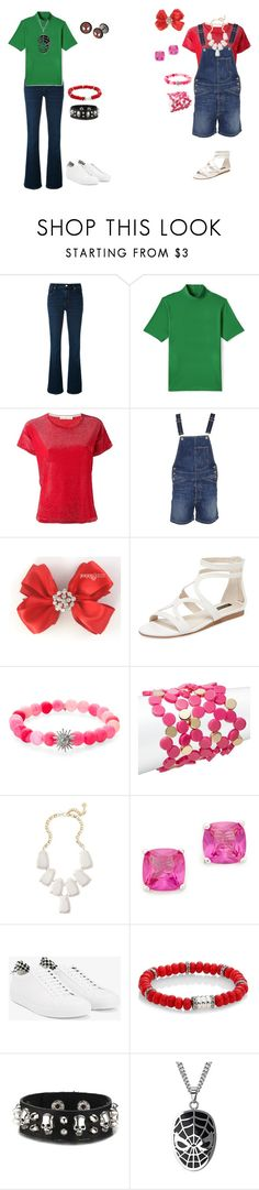 """Girly Girl vs Tomboy: Music store outfits"" by sierra-ivy on Polyvore featuring J Brand, Lands' End, Golden Goose, Dondup, Ava & Aiden, Anzie, Trina Turk, Kendra Scott, Kenneth Jay Lane and Givenchy"
