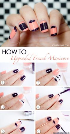 Upgraded french manicure tutorial - - bellashoot.com