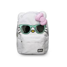 Lounge Fly Hello Kitty Mint Color Sunglasses/Pink Bow Face Backpack