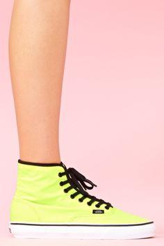 Authentic Hi Sneaker - Neon Yellow