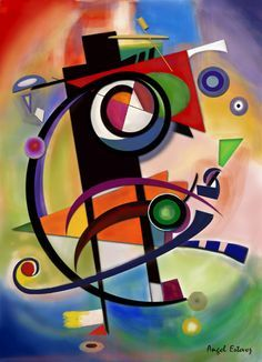 Kandinsky style by Estevez / Digital art / Image created in Photoshop Wassily Kandinsky, Arte Madi, Geometric Art, Art Lessons, Sculpture Art, Abstract Art, Abstract Landscape, Abstract Digital Art, Cool Art