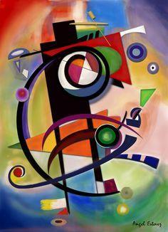 Kandinsky style by Estevez / Digital art / Image created in Photoshop Kandinsky Art, Geometric Art, Art Lessons, Abstract Art, Abstract Landscape, Abstract Digital Art, Pop Art, Art Projects, Art Drawings