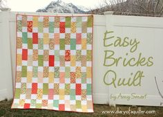 Diary of a Quilter - a quilt blog: Easy Bricks Quilt Tutorial