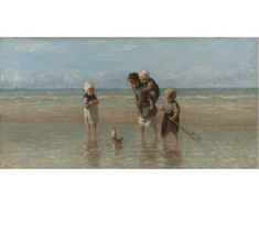 Jozef Israels Children of the Sea, oil on canvas, x cm. Oil On Canvas, Canvas Art, Diving Board, Pool Accessories, Rembrandt, 17th Century, Art Reproductions, Camel, Sea