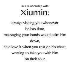In a relationship with exo Xiumin <3 These do not belong to me! found these on the internet and thought I would share them with you! I will upload the rest of them right now! These are so adorable! :-)