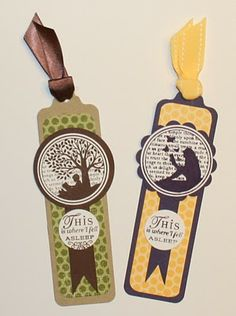 Check out these cute Bookmarks by Kim O'Connell, featuring the Papertrey Ink All Booked Up stamp set. ♥ the silhouette effect!