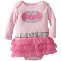 Bentex Group Inc Baby-Girls Newborn Batgirl Dress (£6.98) ❤ liked on Polyvore featuring baby, baby clothes, kids clothes, kids and baby girl