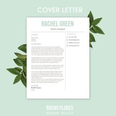 resume template rachel green cover letter 20 icons pc mac