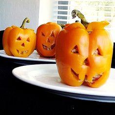 Spooky Stuffed Peppers -
