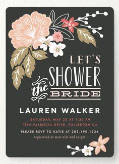 I like these especially if it's a spring wedding! Let's shower! Bridal shower invitations from @minted. http://www.minted.com/product/bridal-shower-invitations/MIN-M56-BSI/pressed-flowers