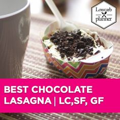 low carb planner chocolate lasagna Low Carb Sweets, Low Carb Desserts, Sweet Desserts, Healthy Meals For Kids, Healthy Baking, Kids Meals, Sugar Free Cupcakes, Cupcake Cakes, Chocolate Lasagna