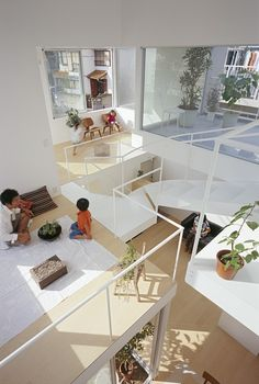 House in Chayagasaka / Tetsuo Kondo Architects.  The outline in white on the glass in interesting