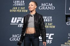 Dog trouble, car accident and fever stressed Rose Namajunas.: Dog trouble, car accident and… Conor Mcgregor, Female Mma Fighters, Rose Namajunas, Ufc Women, Pay Per View, Bomber Jacket, Punk, Jackets