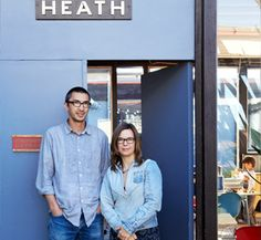 Cathy Bailey and Robin Petravic, owners and creative and managing directors of Heath Ceramics since 2003. The couple purchased the company from the founder, Edith Heath, with the understanding that they would continue, nurture, and expand on her vision. To learn more about Heath's facilities in San Francisco and Sausolito, check  out the March 2015 issue of Ceramics Monthly. http://ceramicartsdaily.org/ceramics-monthly/ceramics-monthly-march-2015/