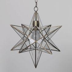 Nicklin Star Glass Pendant Ceiling Light   Brass From Litecraft.