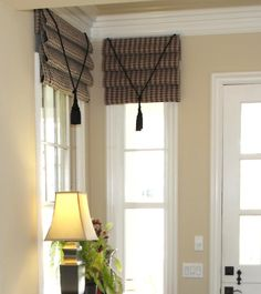 Valances and Shades for Living Rooms Inspiring Ideas) – Priority Window Valances Valances For Living Room, Living Room Windows, Home Living Room, Drapes And Blinds, Drapes Curtains, Window Valances, Window Coverings, Curtain Designs, Curtain Ideas
