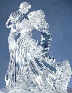 NEW Wilton Clear Bianca Figurine Wedding Cake Topper Dancing Couple KEEPSAKE