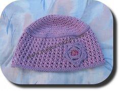 Gorro lila para niña en tejido crochet (ganchillo) – TEJIDO CROCHET Gorros  Tejidos A 57bd27667e8