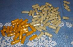 Herbal capsules: Is it worth the expense to make your own? capsules of tumeric and kelp