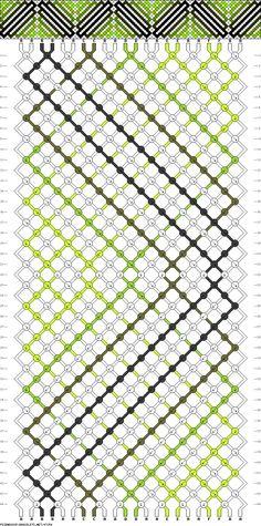 friendship bracelet pattern ● 22 strings ● 6 colors ● A(12), B-F(2)