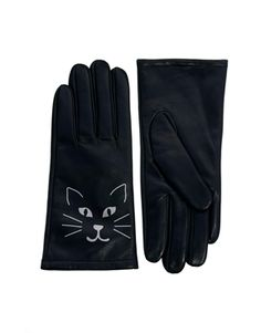 ASOS  // Leather Cat Print Gloves