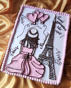 My hobby Мое хобби Cake - Paris Birthday Cakes, Birthday Sheet Cakes, Paris Birthday Parties, 16 Birthday Cake, Birthday Brunch, Pastel Rectangular, Cake Paris, Little Girl Cakes, Buttercream Cake Designs