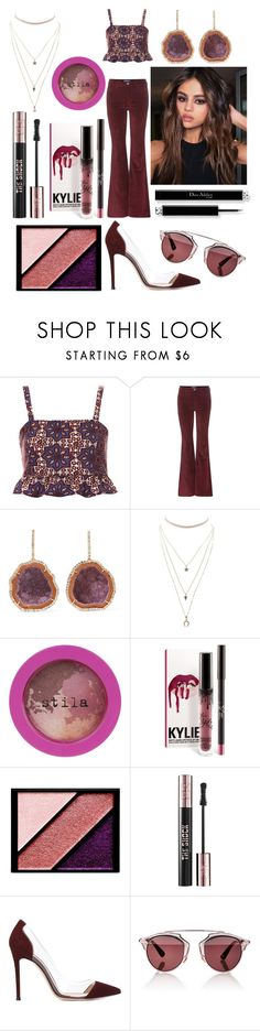 """🌰"" by dilya-kadyrova ❤ liked on Polyvore featuring Topshop, M.i.h Jeans, Kimberly McDonald, Charlotte Russe, Stila, Elizabeth Arden, Yves Saint Laurent, Gianvito Rossi and Christian Dior"