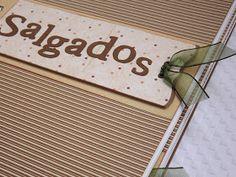 Galeria by Cíntia Castro: Caderno de Receitas Personalizado Scrapbook