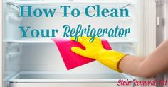 How to clean your refrigerator inside and out, plus dealing with odors {on Stain Removal House Cleaning Tips, Spring Cleaning, Cleaning Hacks, Cleaning Challenge, How To Clean Refrigerator, Refrigerator Freezer, Clean Garage, Fridge Shelves, Best Cleaner