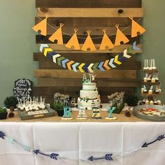 Woodland adventure baby shower party ideas photo 2 of Shower Party, Baby Shower Parties, Baby Shower Themes, Baby Shower Decorations, Shower Ideas, Shower Tips, Tribal Baby Shower, Baby Boy Shower, Anniversaire Cow-boy
