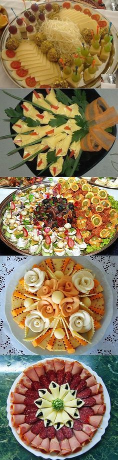 New Cheese Tray Presentation Food Displays Ideas Finger Food Appetizers, Appetizers For Party, Appetizer Recipes, Cute Food, Yummy Food, Appetizer Sandwiches, Party Food Platters, Food Carving, Food Garnishes