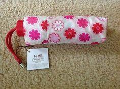 Coach Mini Umbrella NEW 7? Signature Floral Print Fits Handbags BAG Purse 67850