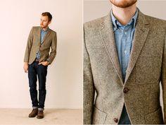 April 11, 2012.  Blazer: H - $160 (similar)Shirt: Club Run Executive - $20 (Crossroads Trading Co.) (similar)Jeans: c/o Doctrine Denim (available at Saaks)(similar)Boots: 1901 Carl Wingtip - $49 (Nordstrom sale) (similar)Watch:Timex(Target) - $29Belt: Levis - $10 (Marshall's) (similar)  View on: Lookbook.nu | Chictopia