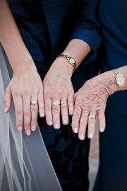 Bride, mother, grandmother... so awesome. this will never happen for me, but i'm gonna be there for my girls!