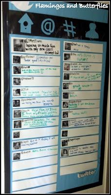 Twitter board... Could use for childrens comments or for family updates exit tickets