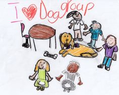 Children from The Shelter for Abused Women & Children express themselves through drawings after their animal assisted therapy session with their counselor and The Brody Project.