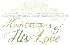 Meditations of His Love Blog for young women
