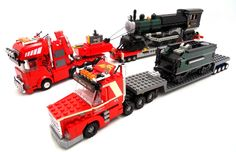 LEGO heavy transport, train on truck | by msbbanl