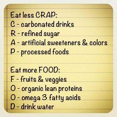 Eat less crap, eat more food eatalkalinefoods.com