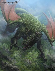 Art featuring giant creatures that dwell on land. Fantasy Dragon, Fantasy Rpg, Fantasy Artwork, Fantasy Monster, Monster Art, Creature Concept Art, Creature Design, Magical Creatures, Fantasy Creatures