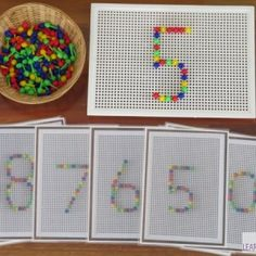 Invitation to play Number Peg Board Printable