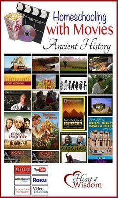 Homeschool with Movies: Ancient History - Heart of Wisdom Ho History For Kids, Study History, Mystery Of History, History Books, Nasa History, History Activities, Teaching History, History Classroom, Homeschool High School