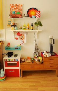 It would also be fun to put a kitchen in the kitchen since I have the space