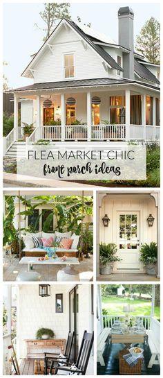 Flea Market Chic-Front Porch Ideas