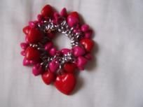 pink and red hearts bracelet for a girl super cute
