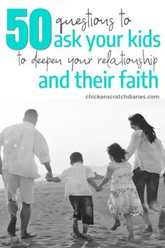 Questions to Ask Your Kids - to Grow Your Relationship and Their Faith Try these meaningful questions to ask kids about faith and family. Try these meaningful questions to ask kids about faith and family. Parenting Workshop, Parenting Classes, Parenting Books, Parenting Humor, Kids And Parenting, Foster Parenting, Parenting Ideas, Peaceful Parenting, Parenting Styles