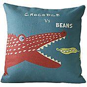 Cute Cartoon Crocodile Pattern Decorative Pil... – USD $ 14.99