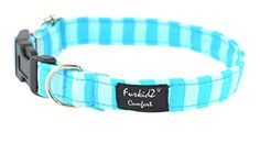 Play with stripes, blue, dog's collar, high quality, exceptional gift, dog accessories, handmade ,L ** You can get additional details at the image link.