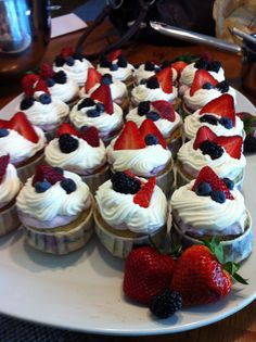 Very Berry Buttermilk Cupcakes