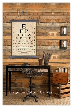 "Vintage Eye Chart. Snellen Eye Chart Pull Down. 24""w x 36""h, School Chart, Wall Chart, Hanging Map, Antique Reproduction Aged"